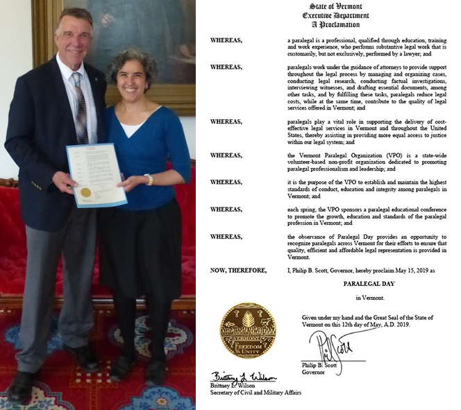 Vermont Paralegal Day